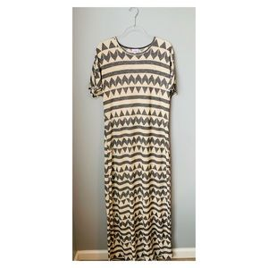LuLaRoe Maria Dress tribal black cream large